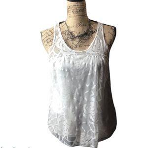 Venus ivory rose patterned sleeveless babydoll top